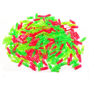 Second Hand Bag of 200 Mixed Super & Micro Lite Nock - Green & Red