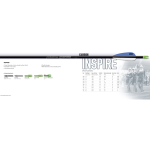 Easton Inspire Carbon Fletched Arrow - Single